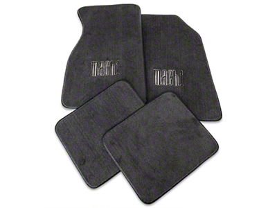 Alterum Front & Rear Floor Mats w/ Mach 1 Logo - Graphite (99-04 All)
