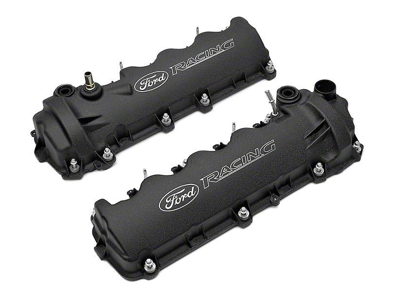 Ford Performance Laser Etched Valve Covers - Black (05-10 GT)
