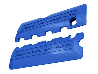 Ford Performance Coil Covers w/ Powered By Ford Logo - Blue (11-17 GT; 12-13 BOSS 302; 15-19 GT350)