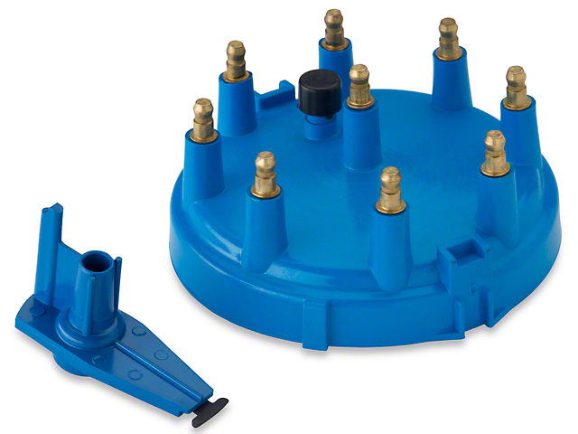 Performance Distributors Replacement Cap and Rotor Kit; Blue (86-95 5.0L)