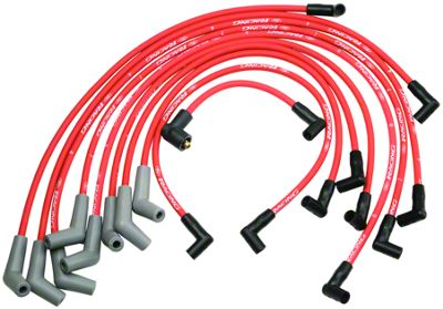 Add Ford Performance High Performance 9mm Spark Plug Wires - Red (79-95 5.0L)