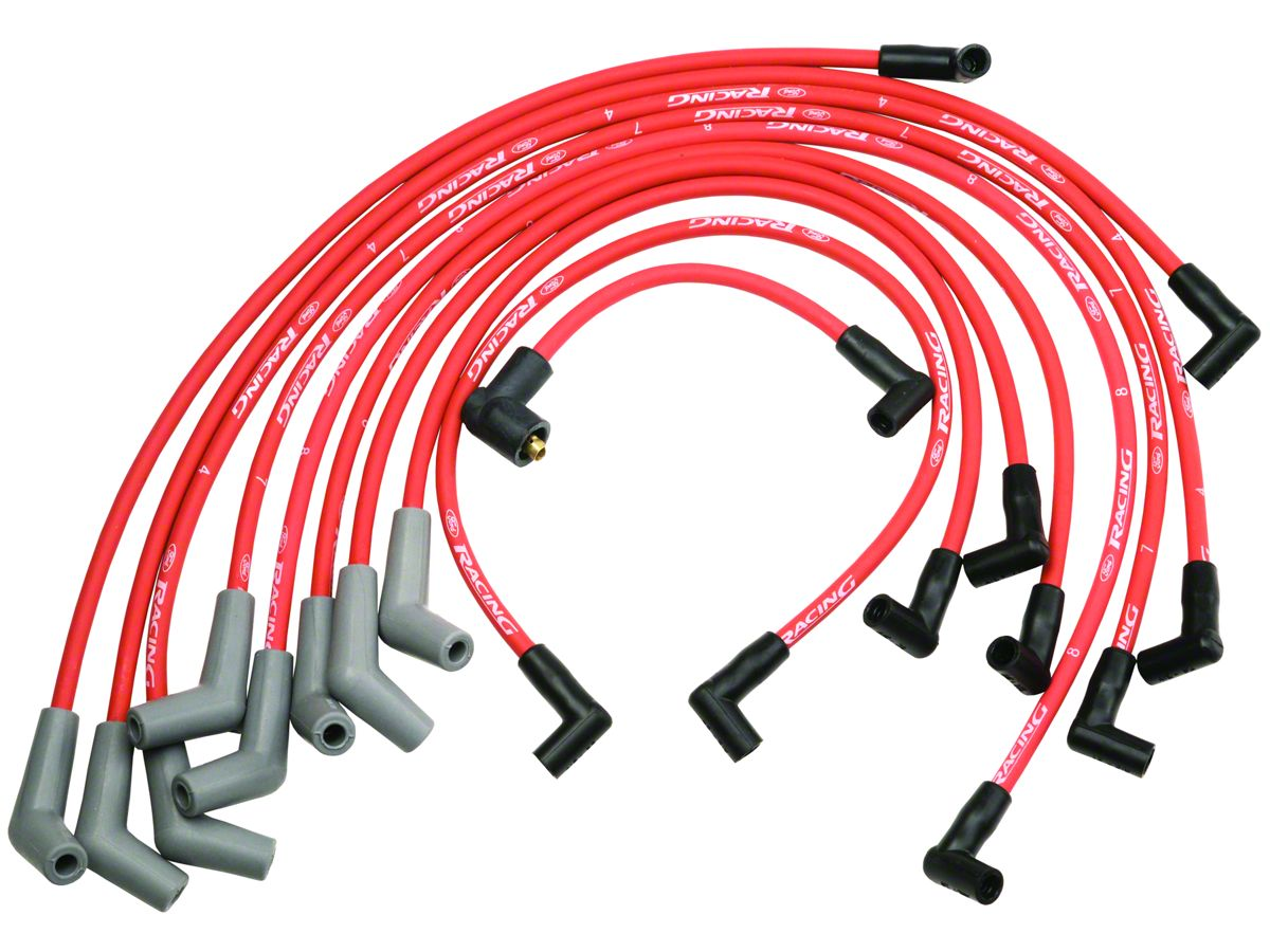 Ford Performance High Performance 9mm Spark Plug Wires - Red (79-95 on spark plug solenoid, spark plug wire, spark plug module, spark plug insulator, spark plug brackets, spark plug housing, spark plug shift knob, spark plug relay, spark plug plugs, spark plug cables, spark plug cords, spark plug repair, spark plug coil test, spark plug testing, spark plug battery, spark plug mounts, spark plug fuse, spark plug filter, spark plug operation, spark plug pump,