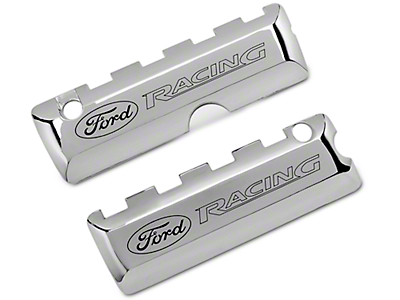 Ford Performance Coil Covers w/ Ford Racing Logo - Chrome (11-17 GT; 12-13 BOSS 302; 15-17 GT350)