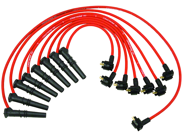 Ford Performance High Performance 9mm Spark Plug Wires - Red (96-98 GT)