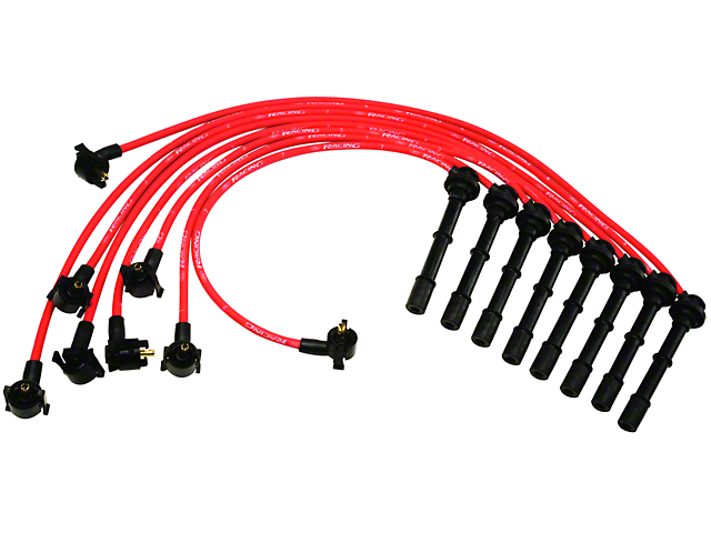 Ford Performance High Performance 9mm Spark Plug Wires; Red (96-98 Cobra)