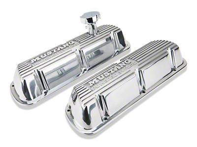 Ford Performance Polished Valve Covers w/ Mustang Logo (86-93 5.0L)