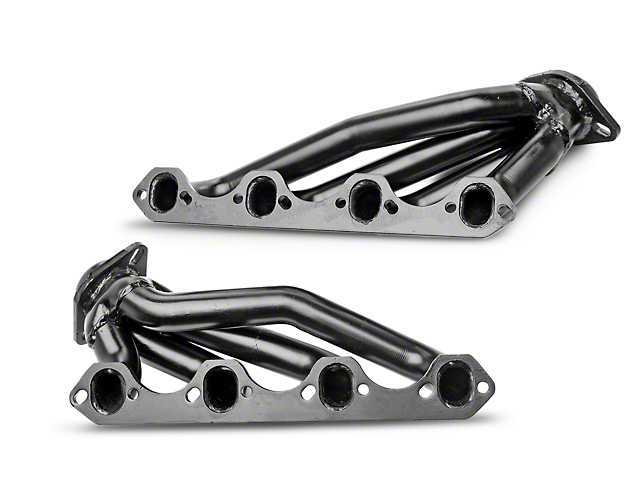 PaceSetter 1-5/8 in. Black Shorty Headers (86-93 5.0L)