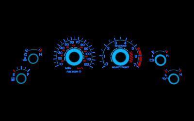 Add White Face Reverse Glow Gauge Insert (99-04 GT)
