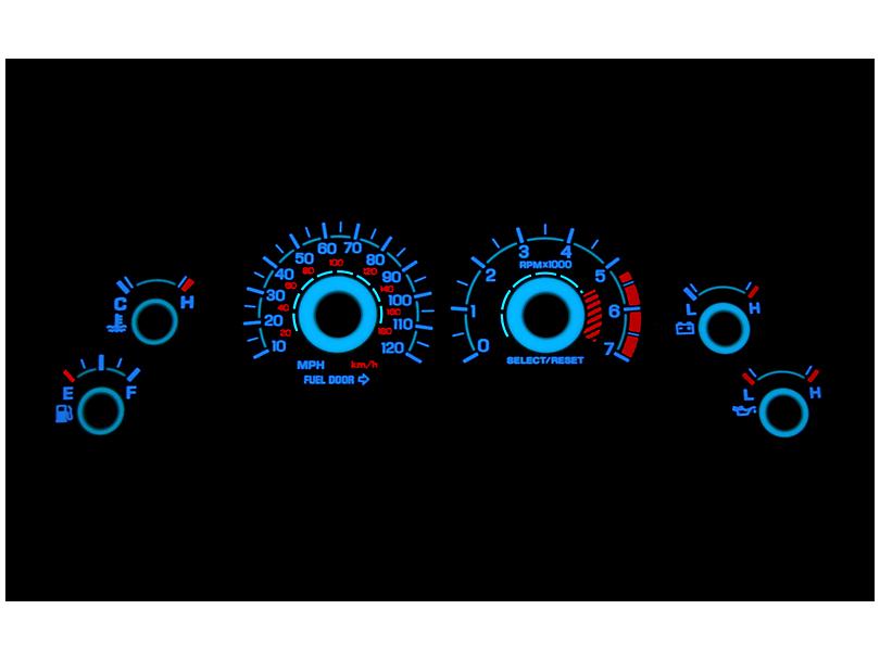 SR Performance White Face Reverse Glow Gauge Insert (99-04 V6)