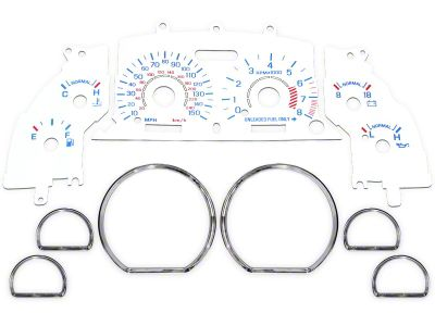 White Face Gauge and Chrome Ring Kit (96-98 GT)