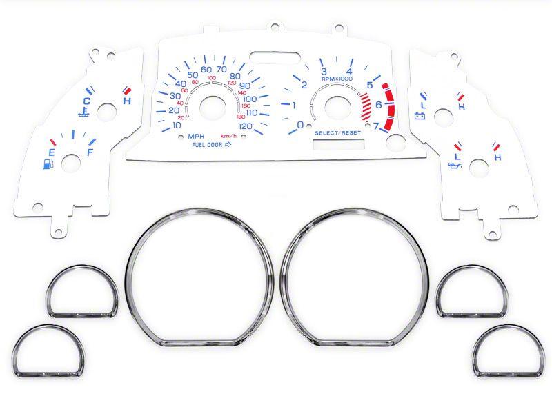 White Face Gauge and Chrome Ring Kit (99-04 V6)