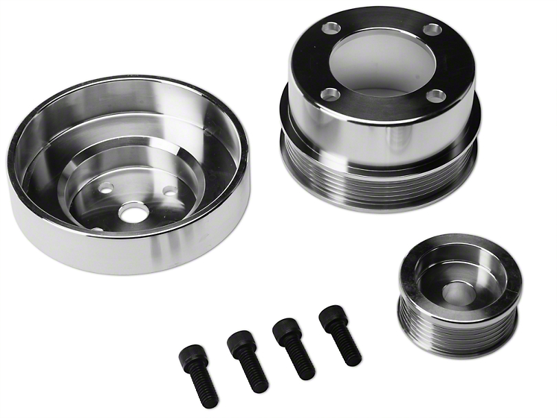 SR Performance Underdrive Pulleys - Polished (86-93 5.0L)