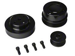 SR Performance Underdrive Pulleys; Black Aluminum (86-93 5.0L)