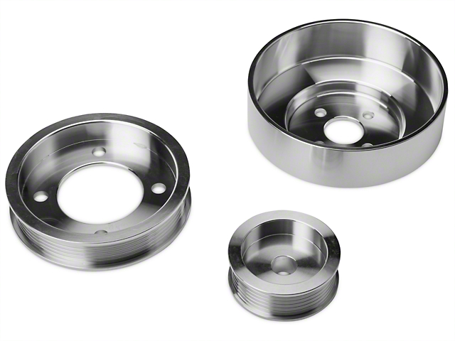 SR Performance Underdrive Pulleys - Polished (94-95 5.0L)