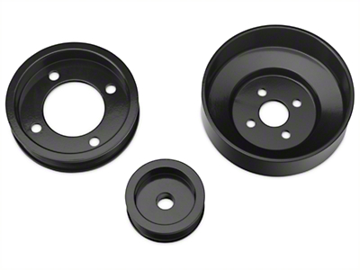 SR Performance Underdrive Pulleys - Black (94-95 5.0L)