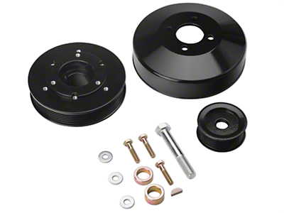 SR Performance Underdrive Pulleys - Black (96-Mid 01 GT)