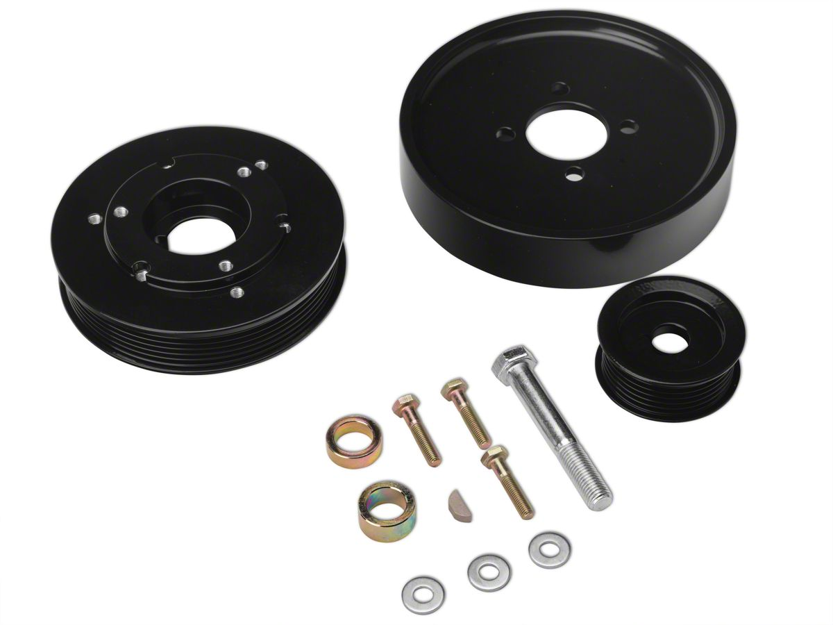 SR Performance Underdrive Pulleys Polished for Mustang GT Late-2001-2004