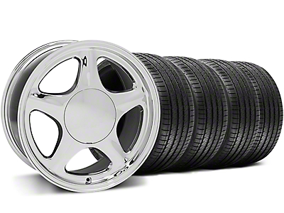 Pony Chrome Wheel & Sumitomo Tire Kit - 17x8 (87-93 All, Excluding Cobra)