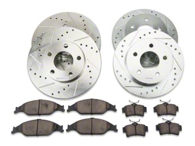 Power Stop Z23 Evolution Sport Brake Rotor & Pad Kit - Front & Rear (99-04 GT, V6)