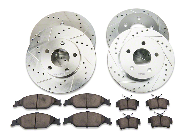 Power Stop Z23 Evolution Sport Brake Rotor and Pad Kit; Front and Rear (99-04 GT, V6)