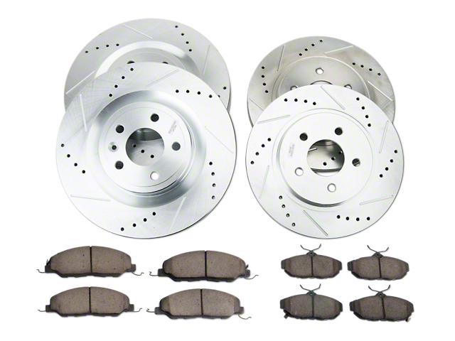 Power Stop Z23 Evolution Sport Brake Rotor and Pad Kit; Front and Rear (11-14 Standard GT)
