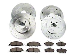 Power Stop Z23 Evolution Sport Brake Rotor and Pad Kit; Front and Rear (11-14 V6)