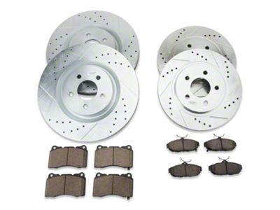 Power Stop K3048 Front Z23 Evolution Brake Kit with Drilled//Slotted Rotors and Ceramic Brake Pads