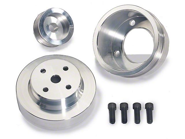BBK Underdrive Pulleys; Aluminum (79-93 5.0L)