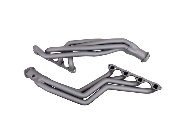 BBK 1-5/8-Inch Long Tube Headers; Chrome (79-93 5.0L w/ Manual Transmission)
