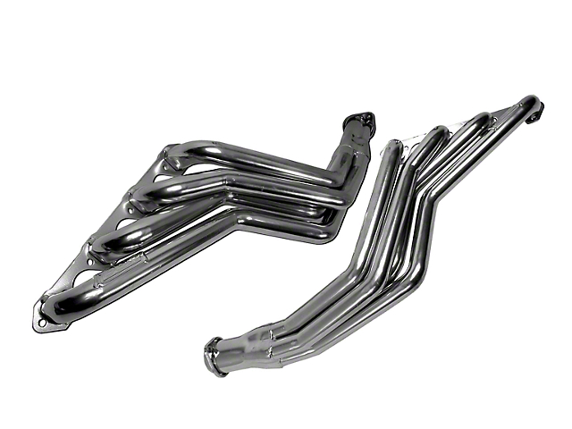 BBK 1-3/4-Inch Long Tube Headers; Chrome (79-93 5.8L w/ Manual Transmission)