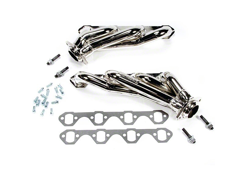 BBK 1-5/8 in. Chrome Unequal Length Shorty Headers (79-93 5.8L)