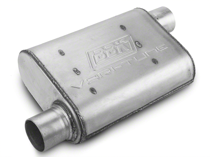 BBK Aluminized Varitune Offset/Offset Oval Muffler - 2.5 in. (79-04 All, Excluding 99-04 Cobra)