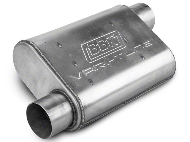 BBK Stainless Steel Varitune Offset/Offset Oval Muffler - 3 in. (Universal Fitment)