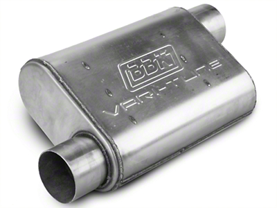 BBK Stainless Steel Varitune Offset/Offset Oval Muffler - 3 in. (79-04 All, Excluding 99-04 Cobra)