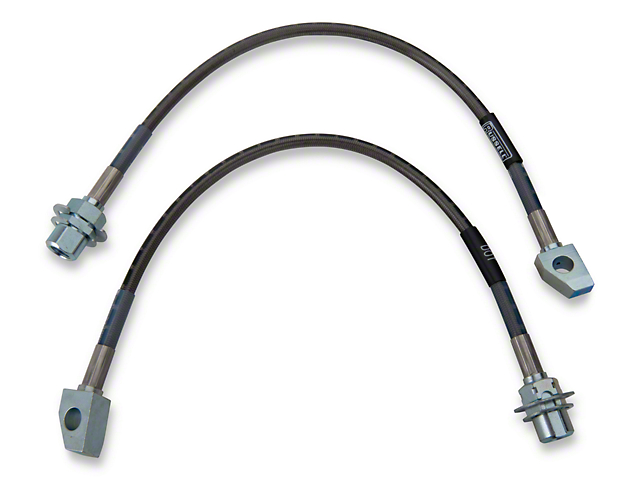 Russell Stainless Steel Braided Brake Line Kit; Front (96-01 Cobra)