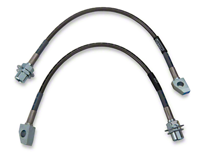 Russell Stainless Steel Braided Brake Line Kit - Front (96-01 Cobra)