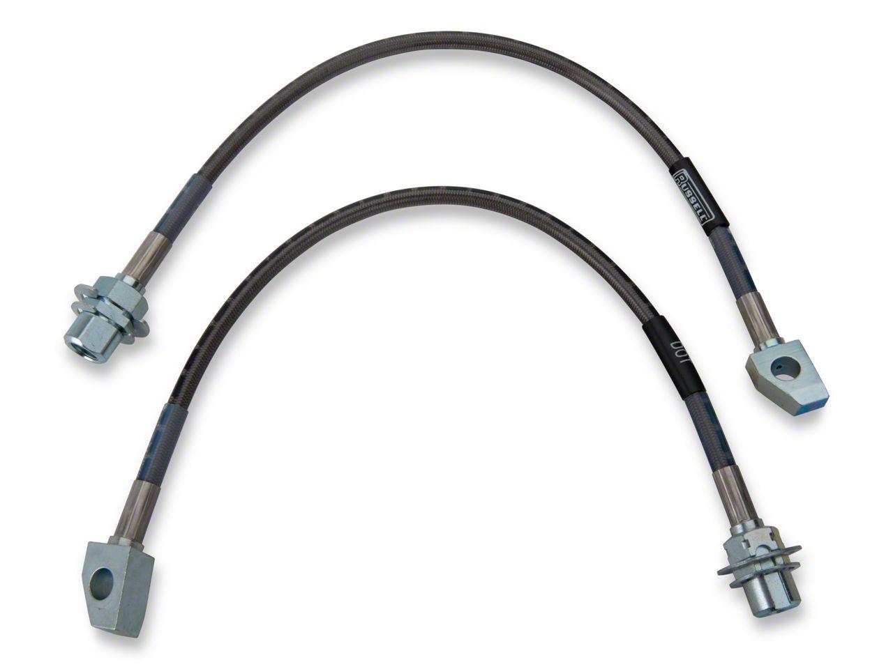 Blue Hose /& Stainless Blue Banjos Pro Braking PBF9769-BLU-BLU Front Braided Brake Line