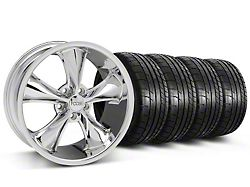 Staggered Foose Legend Chrome Wheel and Mickey Thompson Tire Kit; 18x8.5/9.5 (05-10 GT, V6)