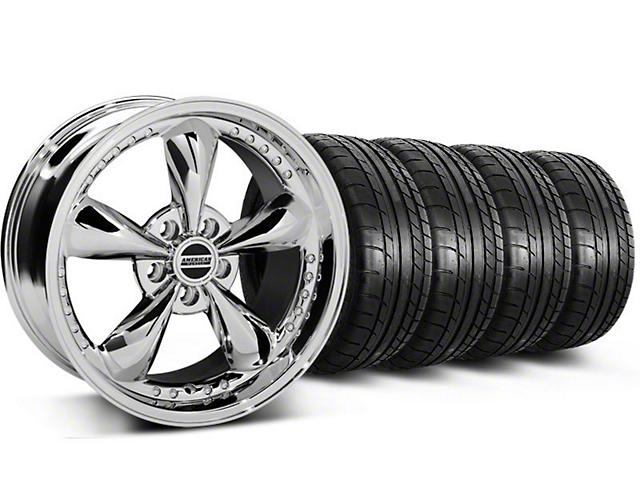 Staggered Bullitt Motorsport Chrome Wheel & NITTO INVO Tire Kit - 18x9/10 (05-14 GT, V6)