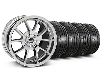 Staggered FR500 Style Chrome Wheel & NITTO INVO Tire Kit - 18x9 (05-14 All)
