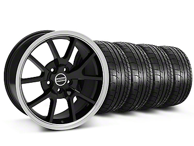 Staggered FR500 Style Black Wheel & Mickey Thompson Tire Kit - 18x9/10 (05-14)