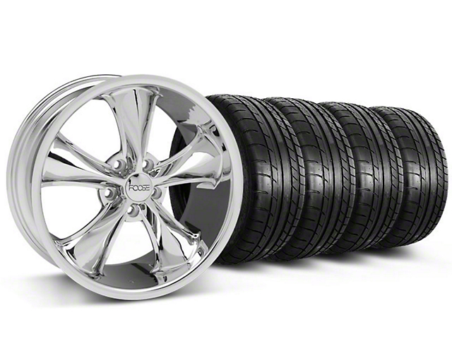 Staggered Foose Legend Chrome Wheel & Mickey Thompson Tire Kit - 20x8.5/10 (05-14 GT, V6)