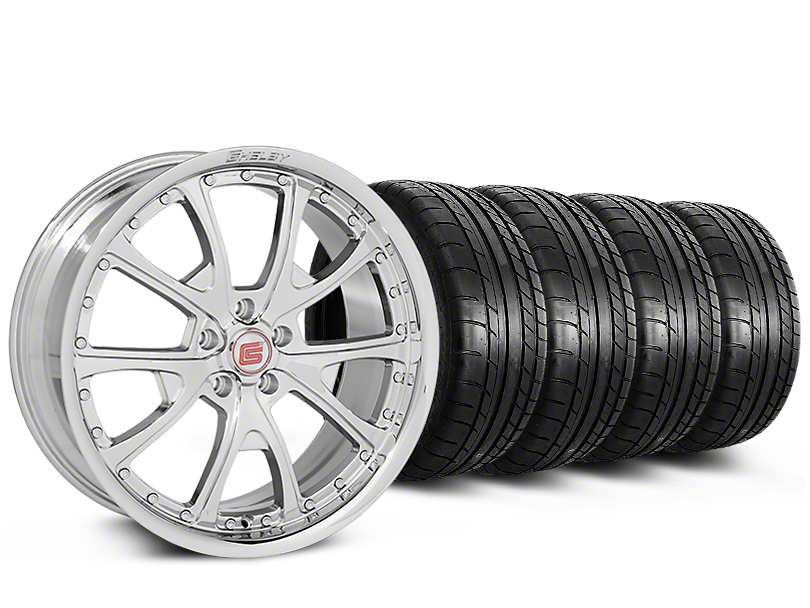 Staggered Shelby CS40 Chrome Wheel & Mickey Thompson Tire Kit - 20x9/10 (05-14)