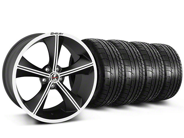 Staggered Shelby CS70 Matte Black Wheel & Mickey Thompson Tire Kit - 20x9/10 (05-14)