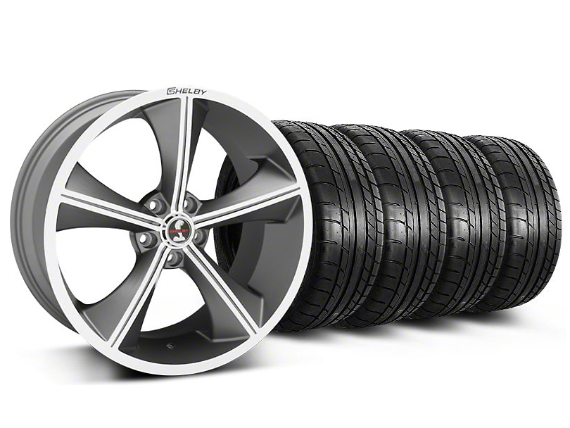 Staggered Shelby CS70 Gunmetal Wheel & Mickey Thompson Tire Kit - 20x9/10 (05-14)