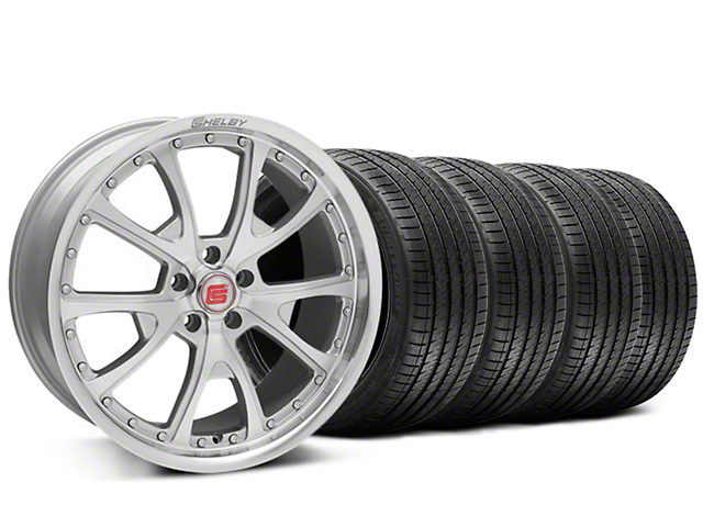 Staggered Shelby CS40 Silver Machined Wheel & Sumitomo Tire Kit - 20x9/10 (05-14)