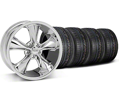 Staggered Foose Legend Chrome Wheel & NITTO INVO Tire Kit - 20x8.5/10 (05-14 GT, V6)