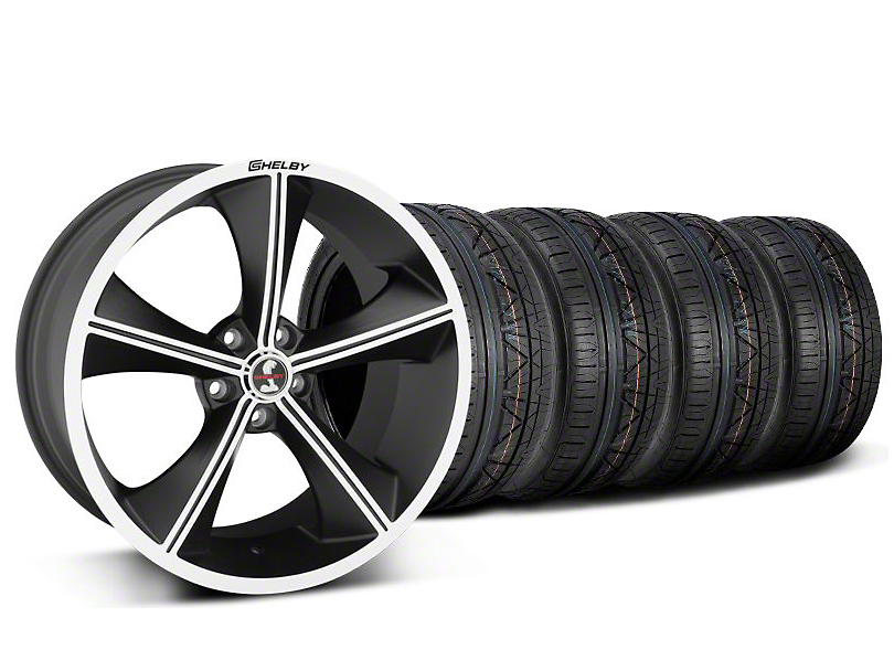 Staggered Shelby CS70 Matte Black Wheel & NITTO INVO Tire Kit - 20x9/10 (05-14)