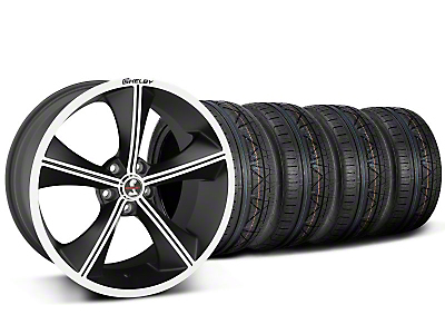 Staggered Shelby CS70 Matte Black Wheel & NITTO INVO Tire Kit - 20x9/10 (05-14 All)