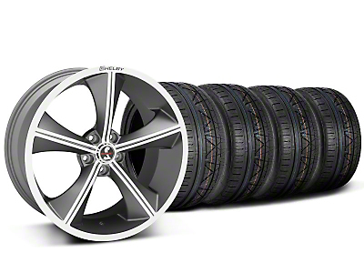 Staggered Shelby CS70 Gunmetal Wheel & NITTO INVO Tire Kit - 20x9/10 (05-14)